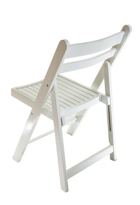 Wooden Folding Chair - White
